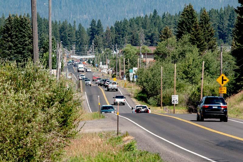 Main roadway through McCall, Idaho, on Friday, July 26, 2013. USDA Photo by Lance Cheung.
