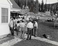 Stibnite Picnic c. 1948 Bailey front lawn
