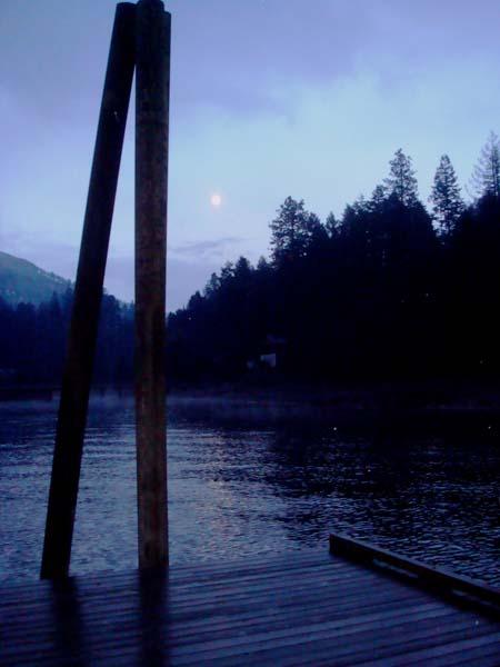 Full moon at Granite Ck dock
