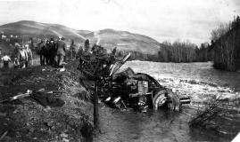 1915 (?) Juliaetta train wreck