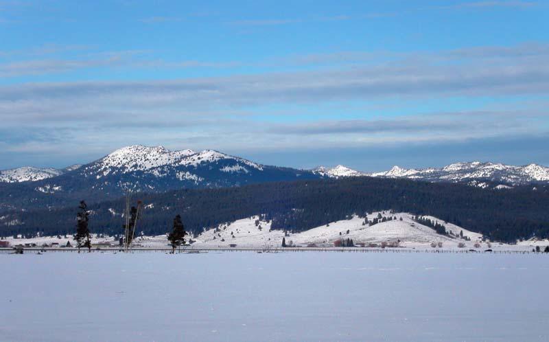 Landscape near Cascade, Winter