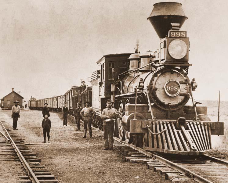 1892 Oregon Shortline Railroad west bound from McCammon, Idaho