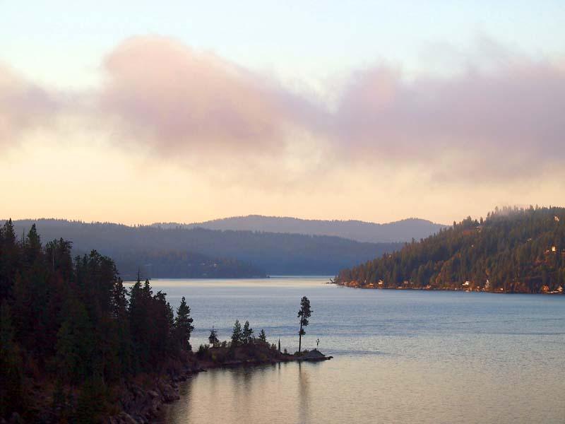 Lake Coeur d\'Alene, photo courtesy of Idaho Tourism