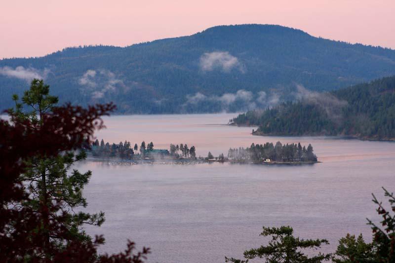 Dramatic sunset over the lake, photo courtesy of Idaho Tourism